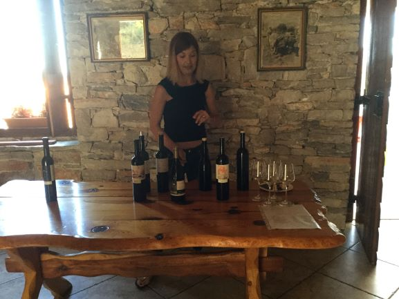 Winery-Torteta-Woman-Serving-Wine-Korcula-Island-Croatia